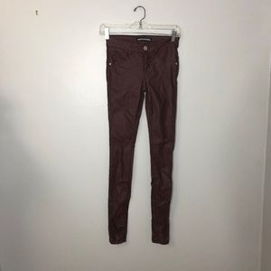 🎈 Almost Famous Vegan Leather Skinny Jeans Sz 3